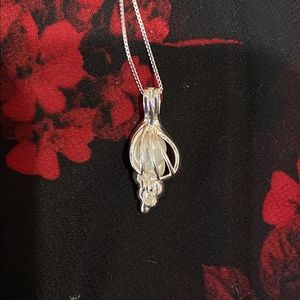 NEW Silver 925SS Sea Shell Pearl Necklace Jewelry